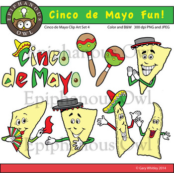 Cinco de Mayo Fun Clip Art Set 4