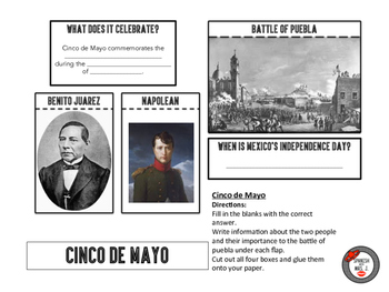 Cinco de Mayo Interactive Notebook Page