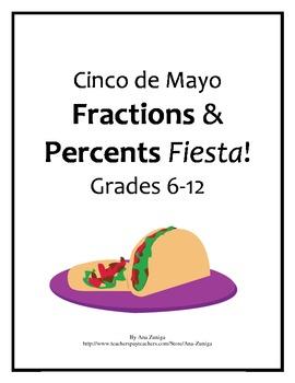 Cinco de Mayo Math: Fractions and Percents grades 6-12