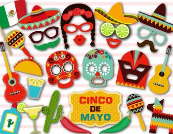 Cinco de Mayo Photobooth Props Mexican Fiesta Photo Booth