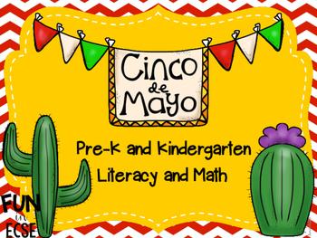 Cinco de Mayo Pre-K and Kindergarten Literacy and Math Activities