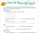 Cinco de Mayo Sub Plan & QR Code Webquest
