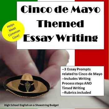 Cinco de Mayo Themed Essay Writing, w Rubrics & Printables