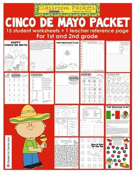 Cinco de Mayo Worksheet Packet