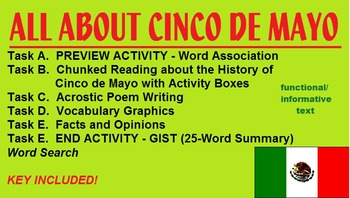 Cinco de Mayo Worksheet -preview act., functional chunked