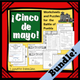 Cinco de Mayo -- Worksheets & Puzzles for the Battle of Puebla