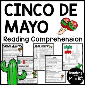 Cinco de Mayo reading comprehension & questions, May, Mexi