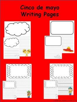 Cinco de mayo Writing Paper