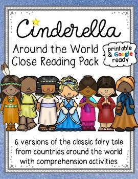 Cinderella Around the World Close Reading Pack