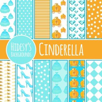 Cinderella Background / Digital Papers / Patterns Clip Art