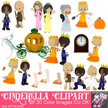 Cinderella Story Clip Art - Fairytale Clipart Images