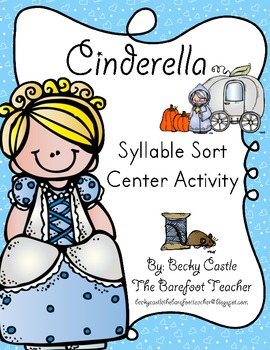 Cinderella Syllable Word Sort Center Activity, 1-4 Syllables