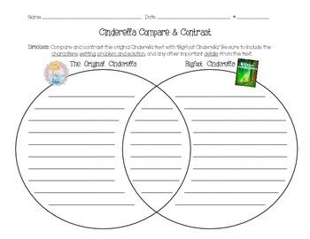 Cinderella and Bigfoot Cinderella compare and contrast