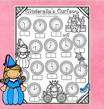 Cinderella's Curfew - Time to the Hour and Half Hour Practice