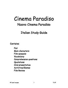 Cinema Paradiso-Italian Study Guide
