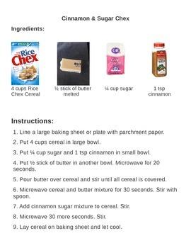 Cinnamon Chex Recipe and Questions