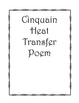 Cinquain Poem Heat Transfer Activity