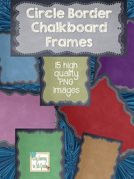 Circle Border Chalkboard Themed Frames- clip art
