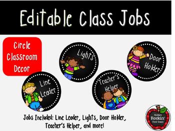 Circle Classroom Job Decor