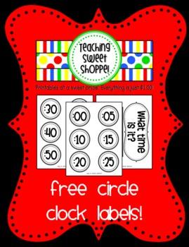 Circle Clock Labels
