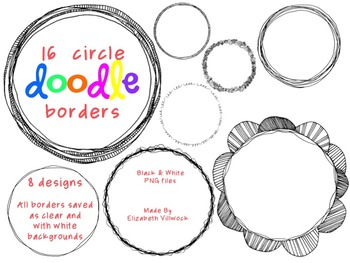 Circle Doodle Borders