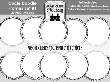 Circle Doodle Frames Set #1