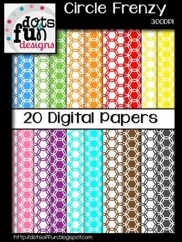 Circle Frenzy Digital Papers
