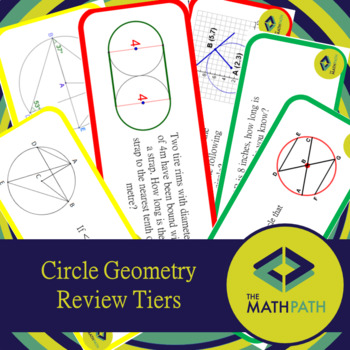 Circle Geometry Unit Review Tier Activity