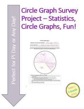 Circle Graph-Pie Chart - Survey Project - Perfect for Pi D