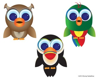 Big Eye Buddies Birds Clip Art and Activity