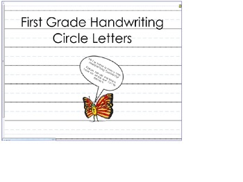 Circle Letter Handwriting (Zaner-Bloser type font)