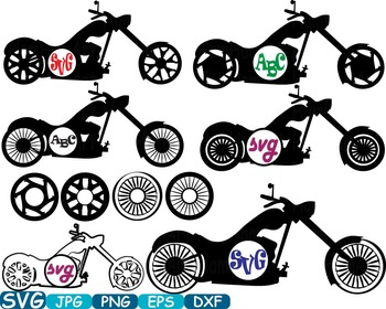 Circle Motorbike Cutting Files SVG Motorcycle clipart moto