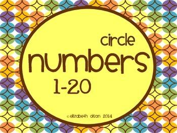 Circle Numbers 1-20