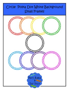 Circle Polka Dot White Background Small Frames