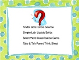 Circle Science Lab, Liquids-Solids, Smart Word Classificat