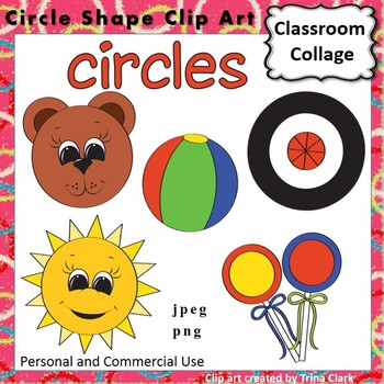Circle Shape Clip Art - Color - personal & commercial use