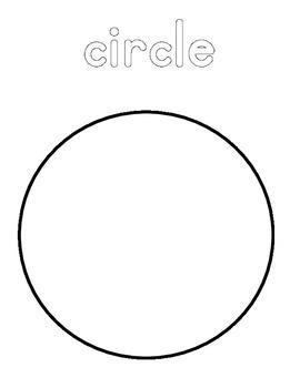 Circle Shapes Coloring Sheet Page Packet
