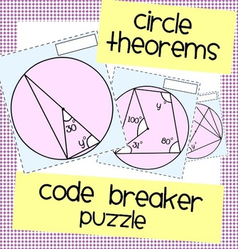 Circle Theorems Code Breaker Puzzle