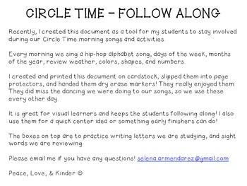 Circle Time Follow Along
