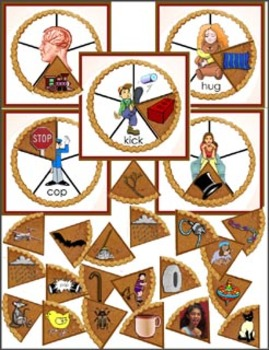 Literacy Center Circle Time - Pumpkin Pie Rhyming Words
