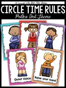 Circle Time Rules Posters {Polka Dot Theme}