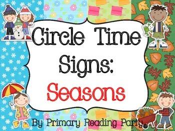 Circle Time Signs: Seasons