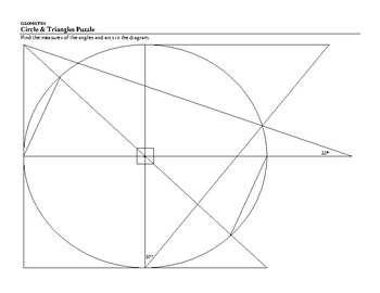 Circle & Triangles Puzzle