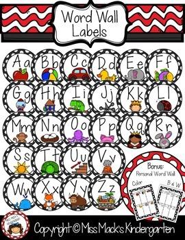 Circle Word Wall Labels