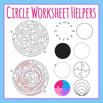 Circle Worksheet Helpers Clip Art for Commercial Use