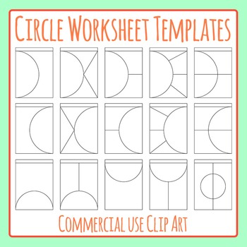 Circle Worksheet Templates / Layouts Clip Art Pack for Com