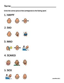 Circle the Feeling Worksheet