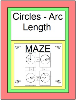 Circles - Arc Length MAZE