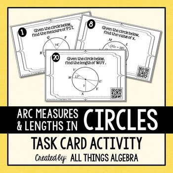 Central Angles, Arc Measures, and Arc Lengths in Circles T