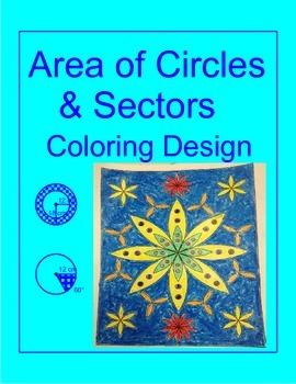 Circles - Area of Circles and Sectors Coloring Activity (1